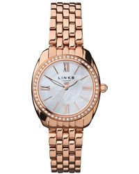 Links of London - Bloomsbury Womens Oval Rose Gold Plate And Crystal Bracelet Watch - Lyst