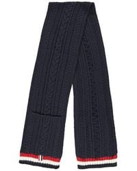Thom Browne Cable Knit Scarf - Blue
