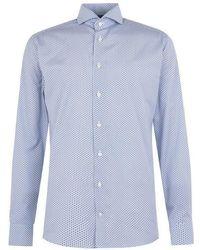 Eton of Sweden Cotton Fan Floral Shirt - Blue