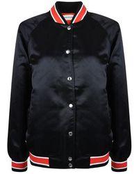 Calvin Klein Varsity Bomber Jacket - Black