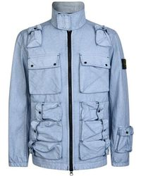 Stone Island Chalk Pocket Field Jacket - Blue