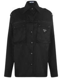 Prada - Nylon Shirt - Lyst