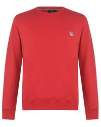 PS by Paul Smith Crew Neck Sweatshirt - Red