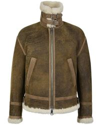 Neil Barrett Shearling Jacket - Multicolour