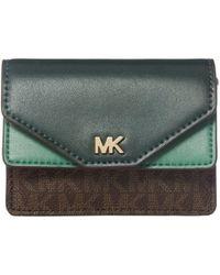 MICHAEL Michael Kors Money Pieces Double Card Holder - Green