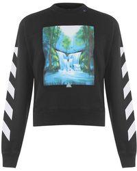 Off-White c/o Virgil Abloh - Waterfall Crew Neck Sweatshirt - Lyst