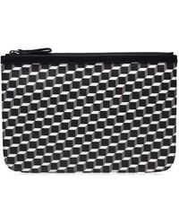 Pierre Hardy Perspective Cube Large Pouch - Black