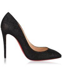 Christian Louboutin Eloise Glitter Heels - Black