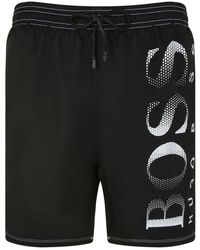 9bd7d6058a Lyst - BOSS 'killifish' | Quick Dry Logo Board Shorts in Green for Men