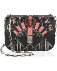 Valentino - Love Blade Embroidered Chain Bag - Lyst
