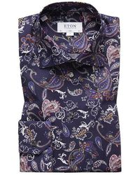 Eton of Sweden Paisley Shirt - Blue