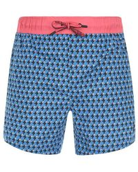 BOSS by Hugo Boss Hugo Boss Scorpion Fish Swim Shorts Mens - Blue