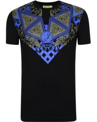 6a113ef4 Lyst - Versace Jeans Baroque Logo T-shirt in Black for Men