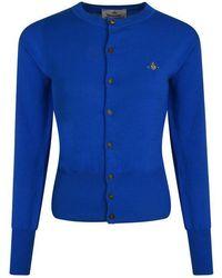 Vivienne Westwood Orb Knit Cardigan - Blue