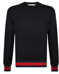Gucci - Web Trim Crew Sweatshirt - Lyst