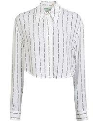 Off-White c/o Virgil Abloh Stripe Logo Shirt - White