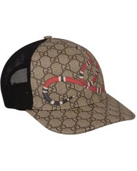 124c61a120b Lyst - Gucci Rap Baseball Cap With Snake And Gg Logo Detailing in ...