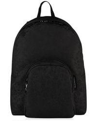 Alexander McQueen Jacquard Skull Print Backpack - Black