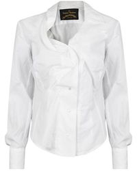 Vivienne Westwood Anglomania Ruched Long Sleeved Shirt - White