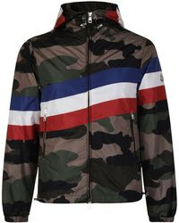 a6755e8aadef Lyst - Moncler Panelled Jacket in Blue for Men