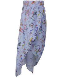 Vivienne Westwood Anglomania Temperance Skirt - Blue