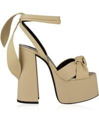 e8e470b261a Lyst - Saint Laurent Suede Paige Sandals in Black