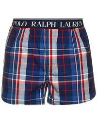 Polo Ralph Lauren Check Slim Fit Boxer - Blue