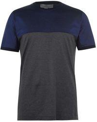 Canali Tri Coloured T Shirt - Blue