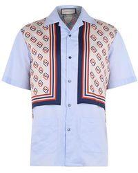 Gucci Oxford Bowling Shirt - Blue