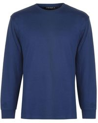 Perry Ellis Perry Logo Long Sleeve T Shirt - Blue