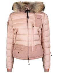 Parajumpers Fur Trim Ski Jacket - Pink