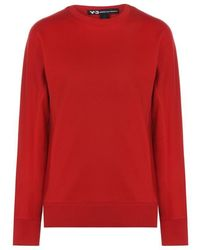 Y-3 Back Logo Sweater - Red