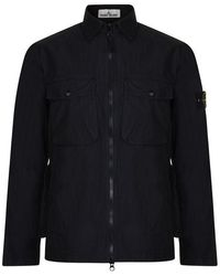 Stone Island Pocket Nylon Jacket - Black