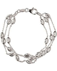 Links of London - Essentials Beaded 3 Row Bracelet - Lyst