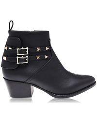 Valentino Texas Boots - Black