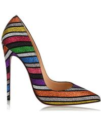 ac4a963c1a8 Christian Louboutin Classique So Kate 120 Glitter Dragonfly Pumps - Lyst