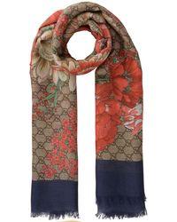 54bab63afaa Sten Reversible Intarsia Wool Scarf.  350. NET-A-PORTER · Gucci - Spring  Shawl - Lyst