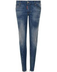 DSquared² - Paint Twiggy Skinny Jeans - Lyst