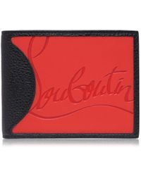 Christian Louboutin Coolcard Rubber Inlay Bi Fold Leather Wallet - Red