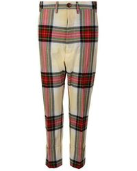 Vivienne Westwood Cropped Tartan Trousers - Multicolour