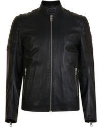 BOSS Orange - Jaysee Leather Jacket - Lyst
