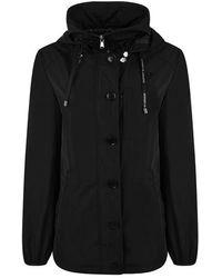 Emporio Armani Water Repellent Hooded Jacket - Black