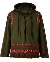 Valentino Over The Head Embellished Anorak - Green