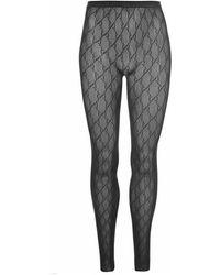 Gucci Gg Lace Tights - Black