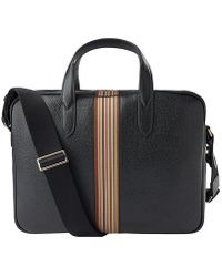 Paul Smith Signature Stripe Portfolio Bag - Black