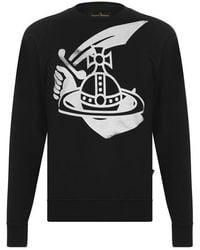 Vivienne Westwood Anglomania Anglomania Orb Sweatshirt - Black