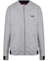 BOSS - Children Boys Jersey Hooded Sweatshirt - Lyst