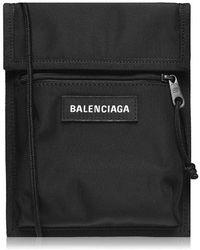 Balenciaga Slim Explorer Pouch Strap Bag - Black