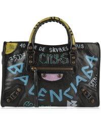 Balenciaga - Graffiti Small City Handbag - Lyst
