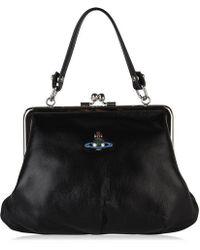 Vivienne Westwood Emma Frame Purse Bag - Black